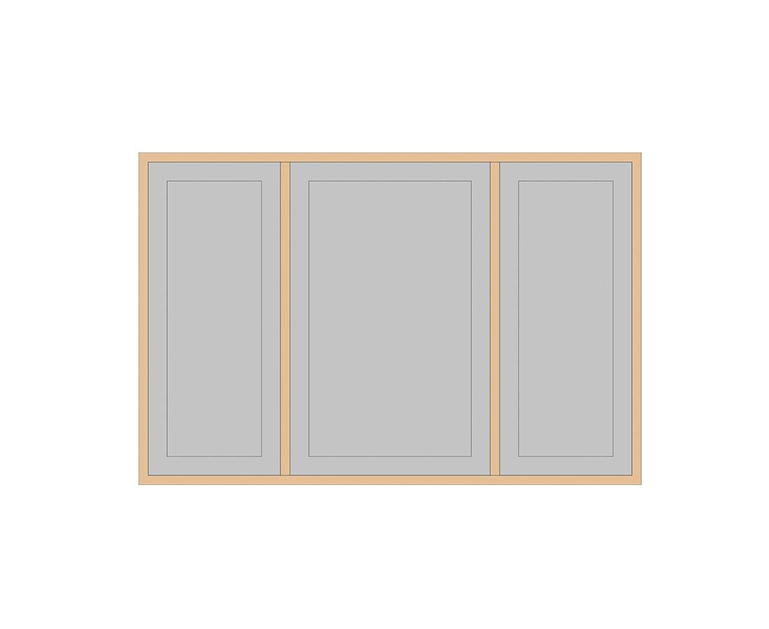Витраж Лугано 176x716 для фасада 356х896