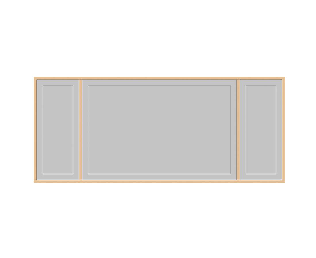 Витраж Лугано 176x416 для фасада 356х596