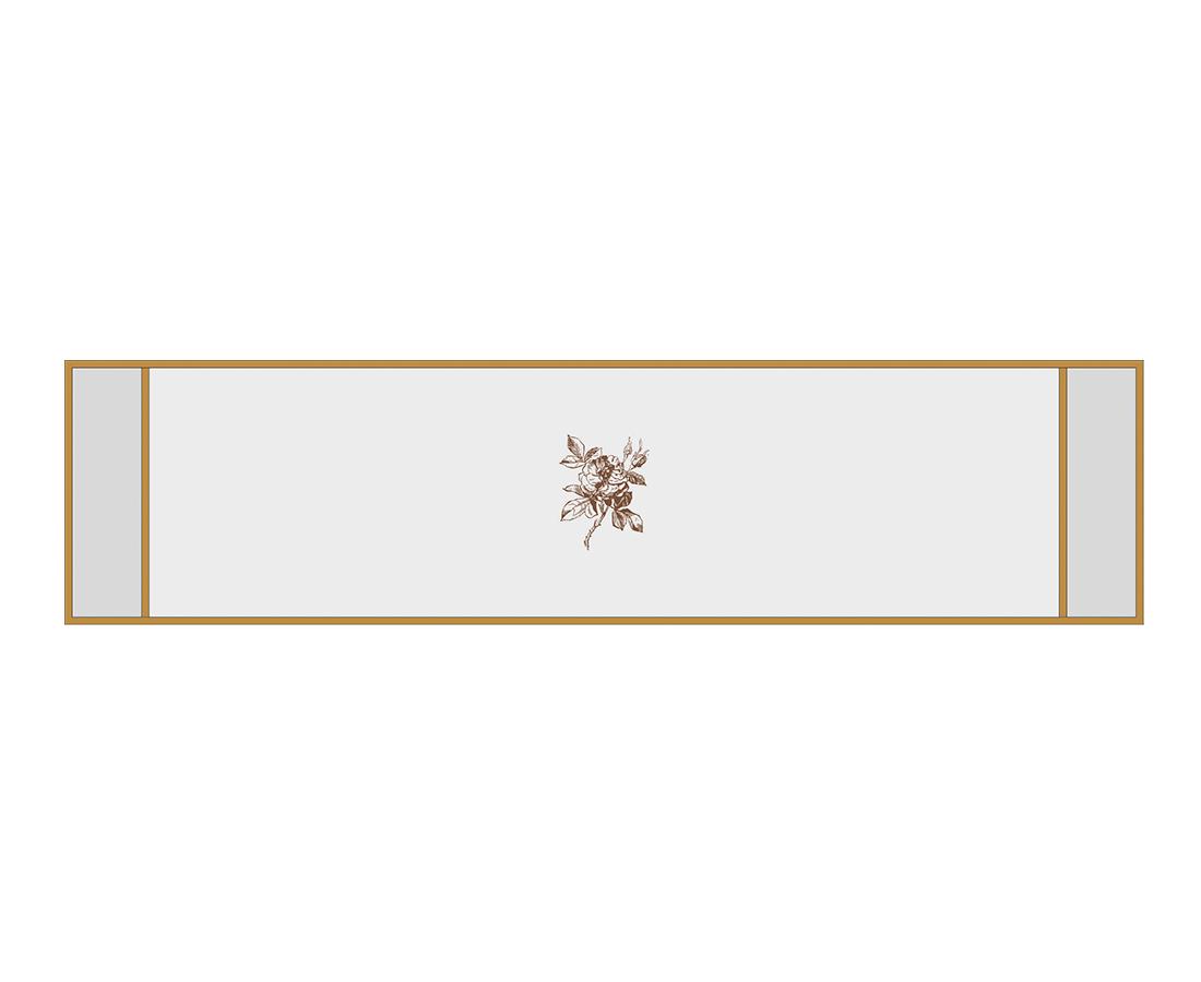 Витраж Бриар 176x716 для фасада 356х896