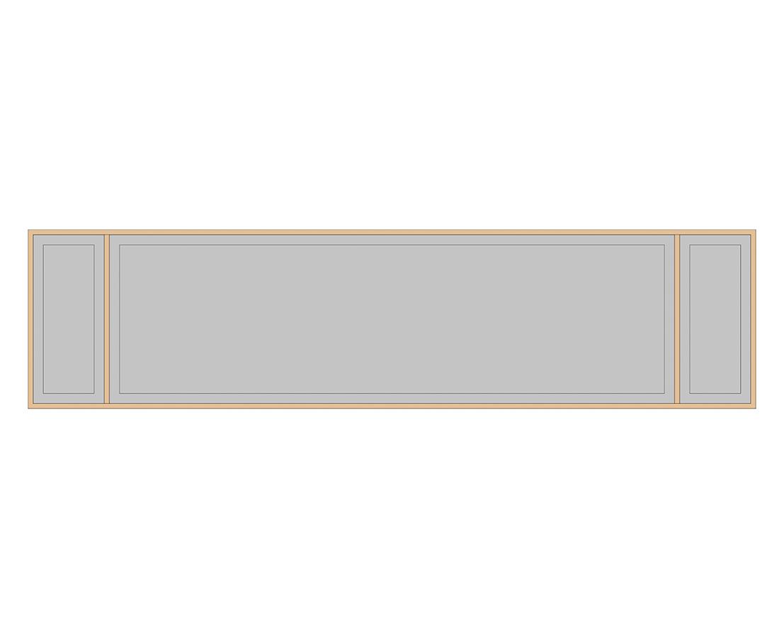 Витраж Лугано 176x266 для фасада 356х446