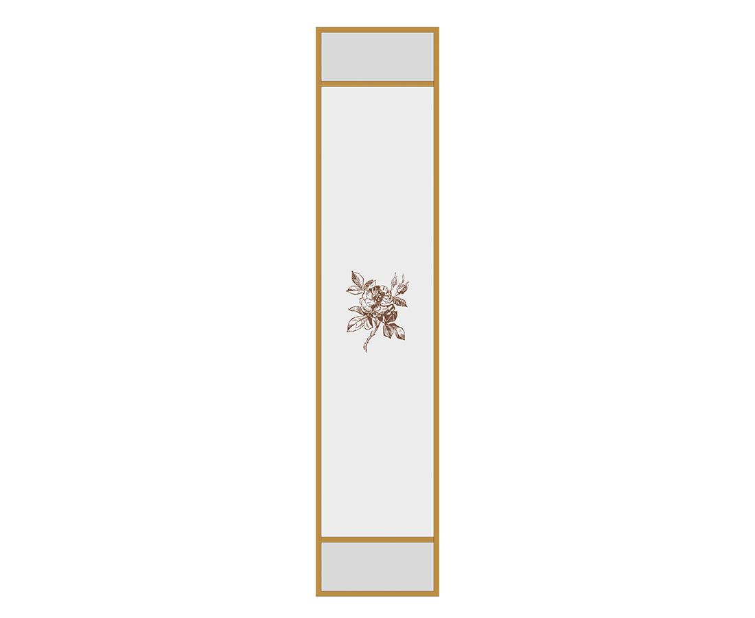 Витраж Бриар 536x116 для фасада 716х296