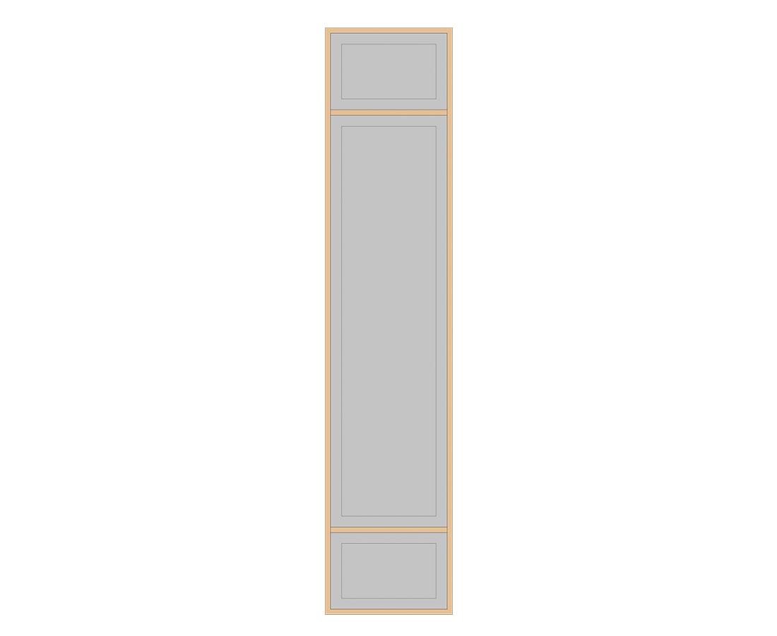 Витраж Лугано 536x116 для фасада 716х296