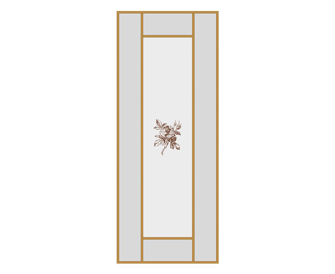 Витраж Бриар 536x216 для фасада 716х396