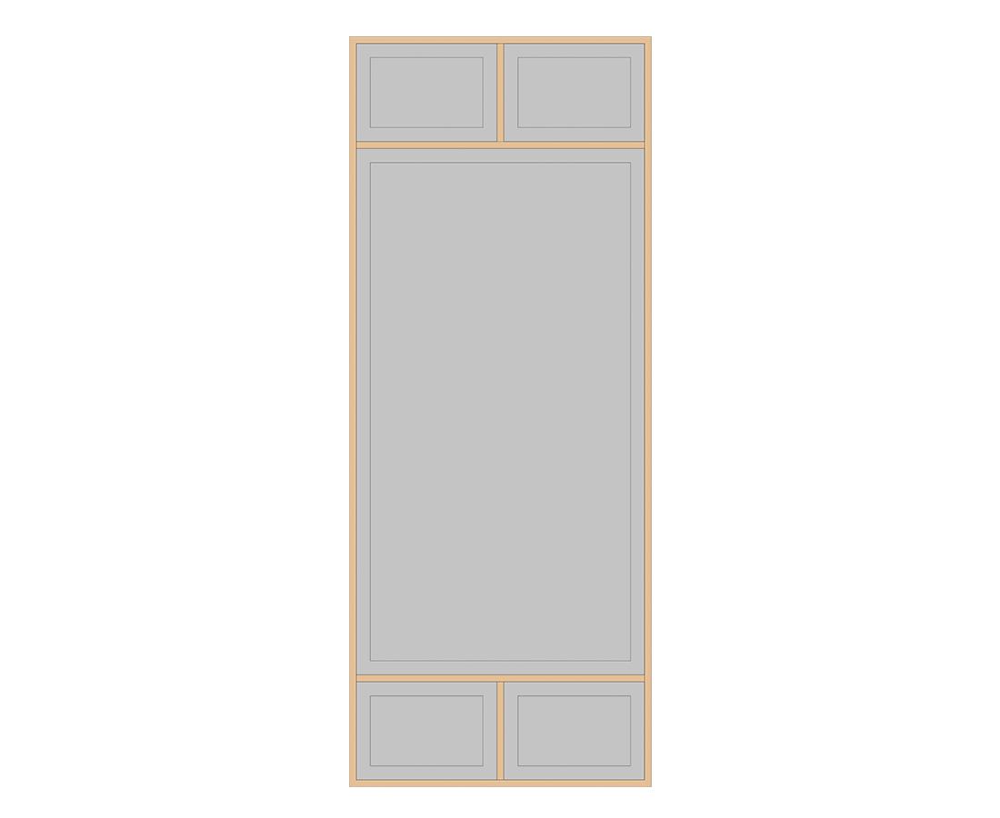 Витраж Лугано 536x216 для фасада 716х396