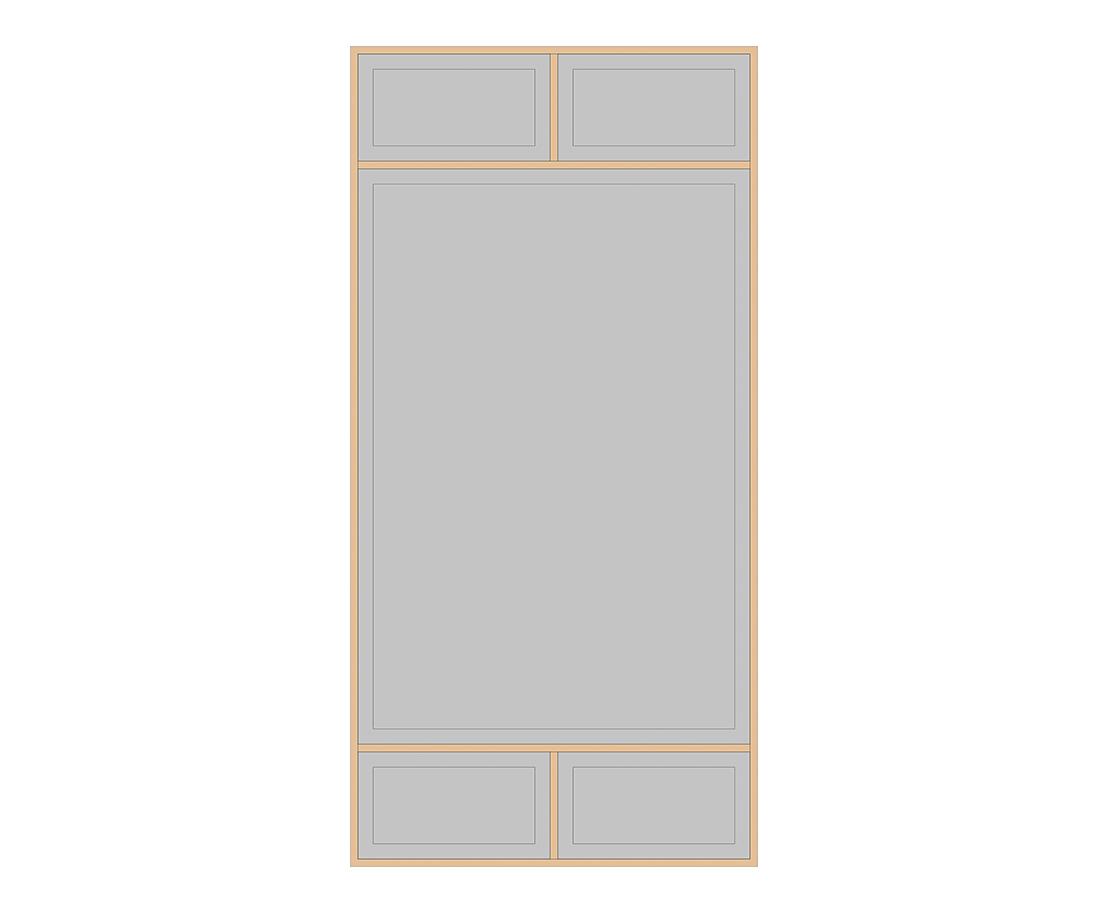 Витраж Лугано 536x266 для фасада 716х446