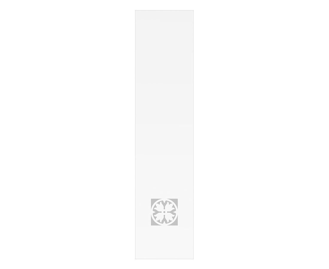 Витраж Лаура 548x128 для фасада 716х296