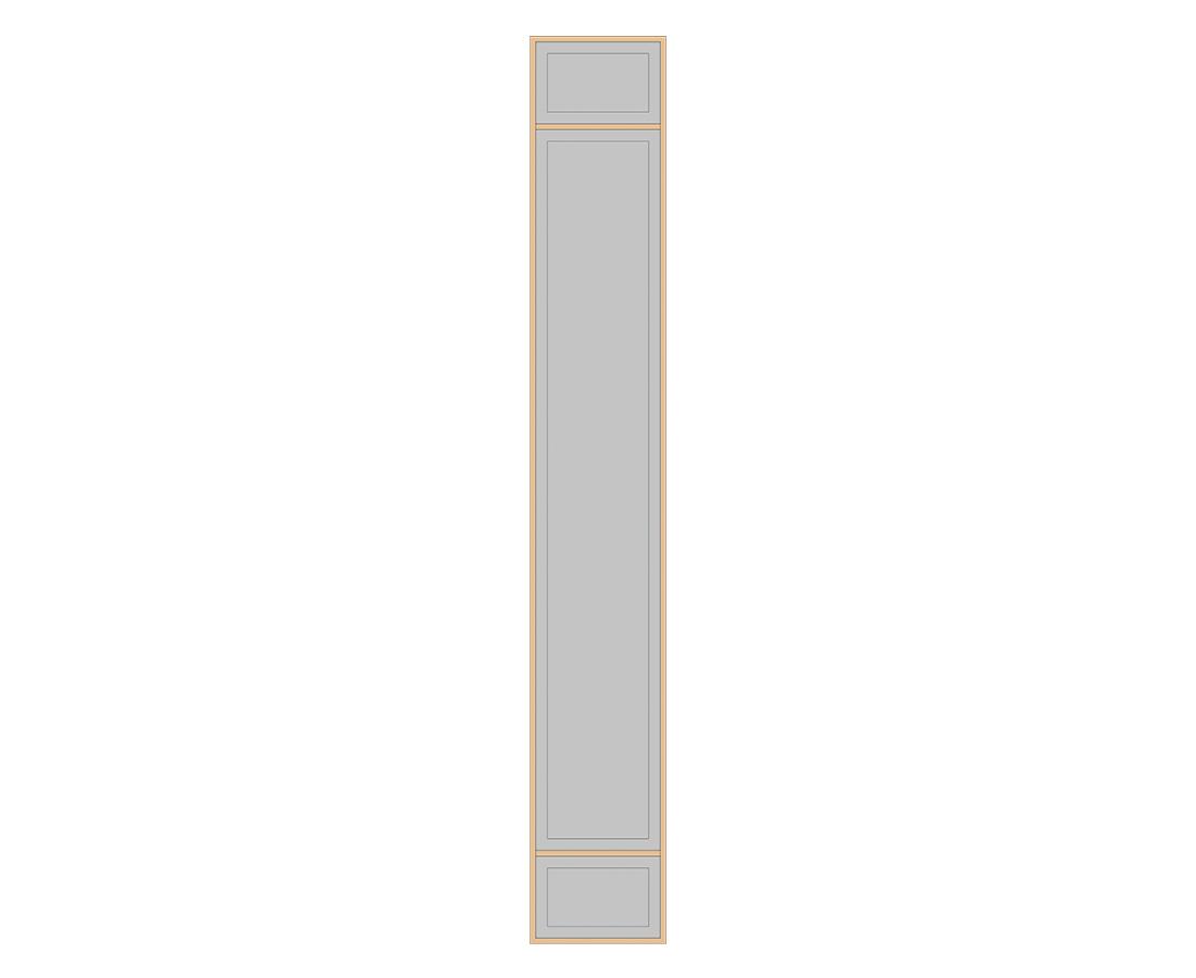 Витраж Лугано 776x116 для фасада 956х296
