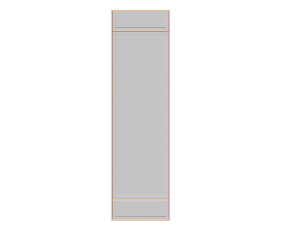 Витраж Лугано 776x266 для фасада 956х446